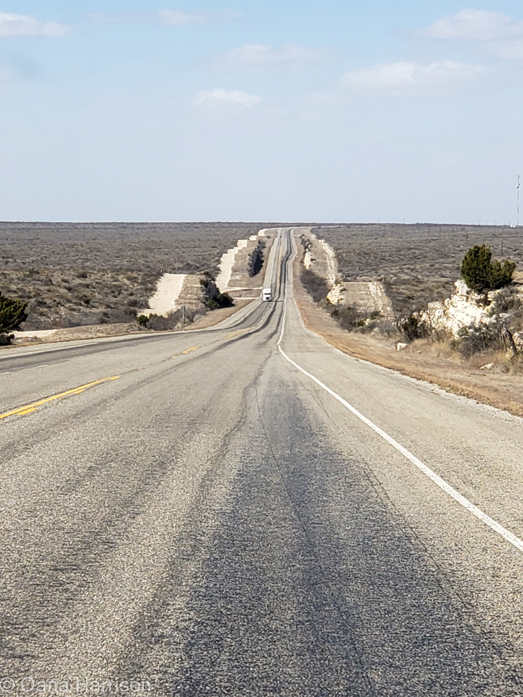 Langtry Texas long road