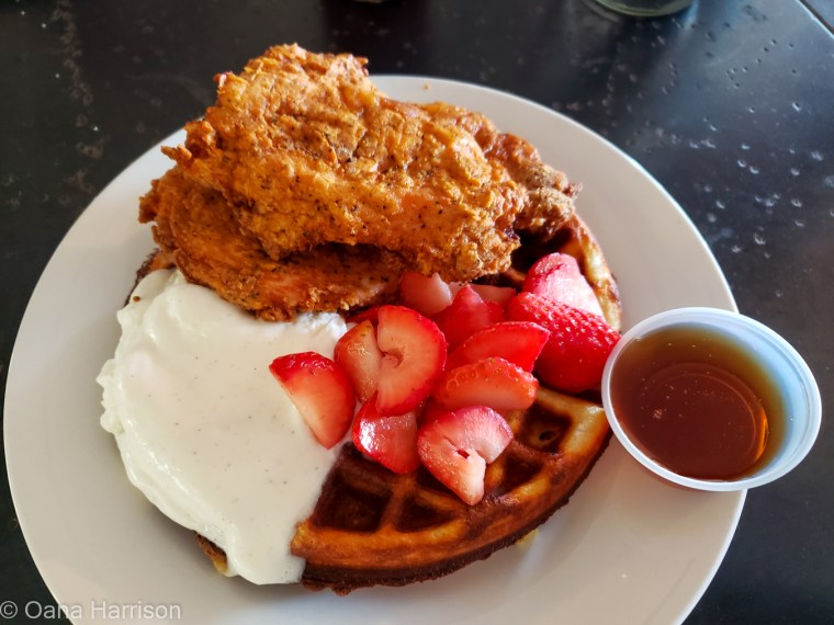 Marfa Texas The Waterstop chicken and waffle