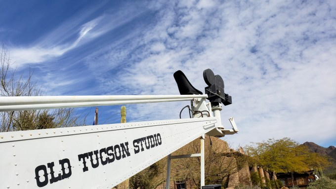 Old Tucson movie crane