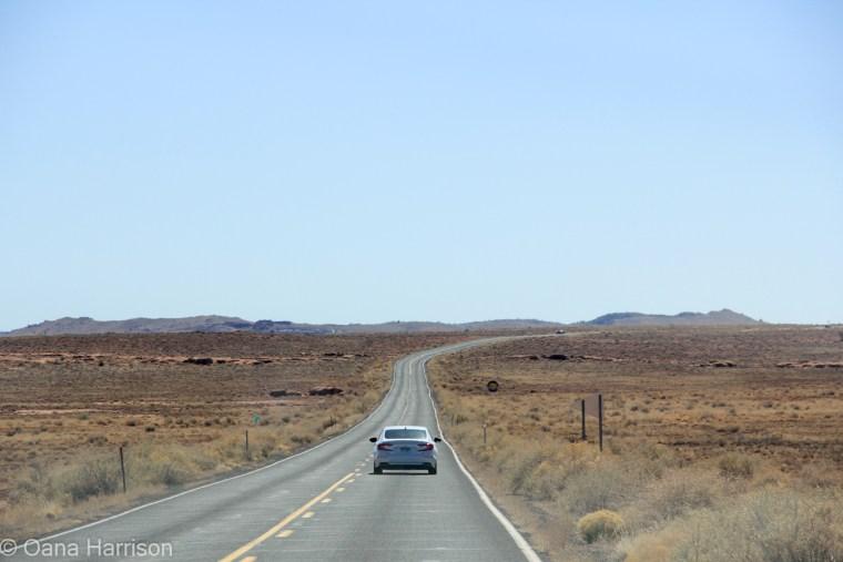 Road to Meteor Crater National Landmark Arizona