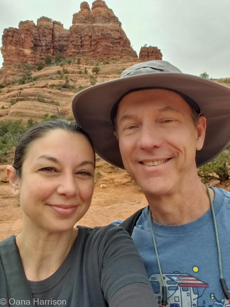 Red Rocks Sedona Arizona, Oana and David