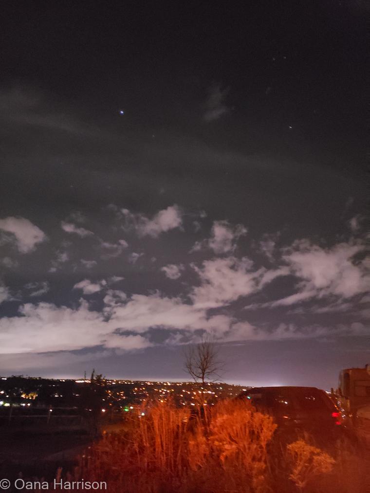 San Diego, California night sky