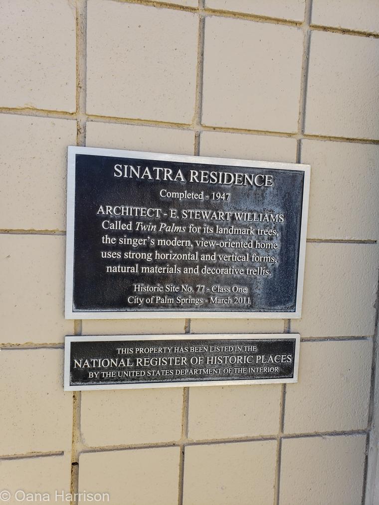 Palm Springs California Sinatra home