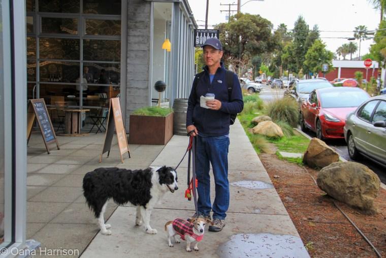 Santa Barbara, California, David and dogs