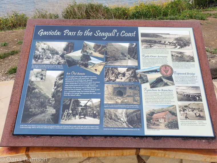 Santa Barbara, Gaviota, history, info panel