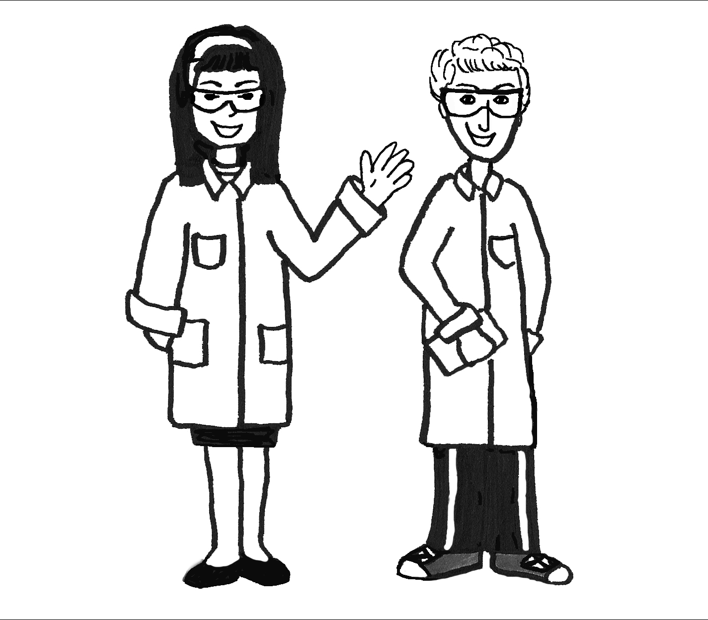 Science Lab Safety Comics Sketch Coloring Page
