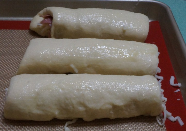 As a final touch here, I brushed the rolls with melted butter and sprinkled them lightly with sea-salt flakes.