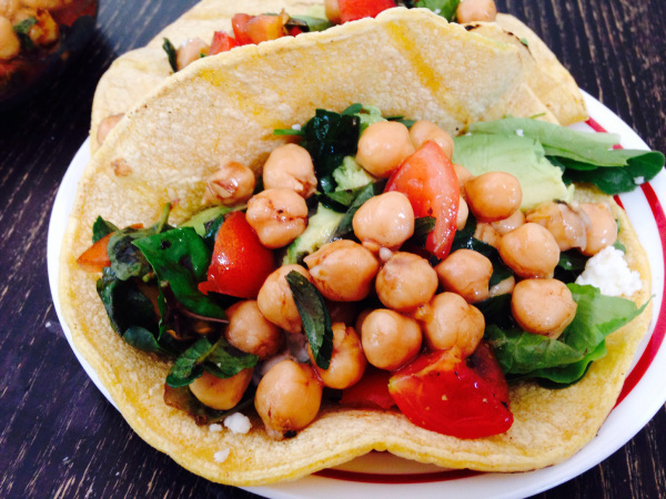 Garbanzo Bean Mint Tacos