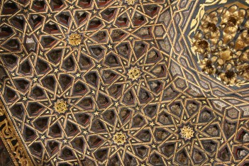 Beautiful carved roof of one of the galleries