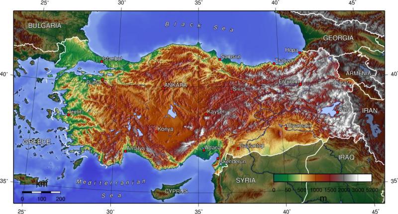 turkey-topographic-map