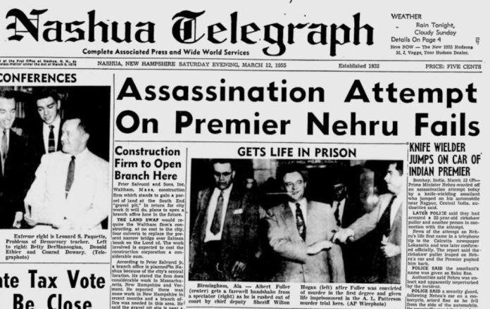 The assassination of Jawaharlal Nehru