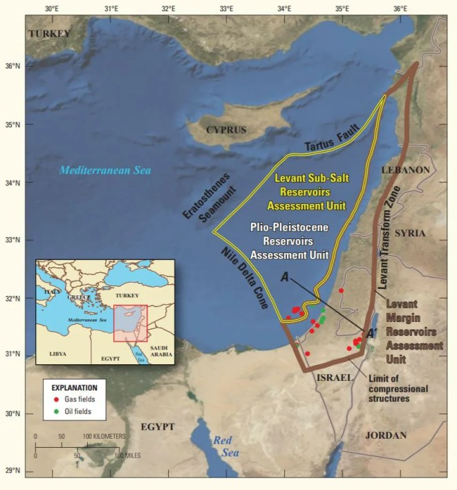 Hydrocarbon reserves discovered in the Levant Bason