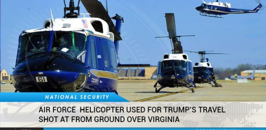 US Air Force Helicopter Assigned Trump's Support Detail Shot From Ground Over Virginia