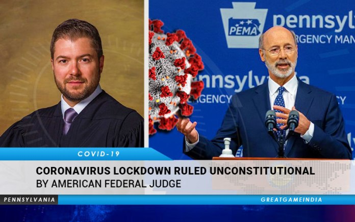 Coronavirus Lockdown Ruled Unconstitutional By Pennsylvania Federal Judge