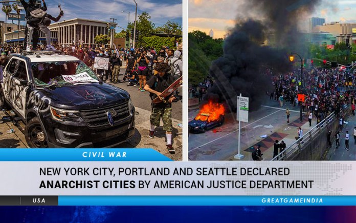 New York City, Portland And Seattle Declared Anarchist Cities By America