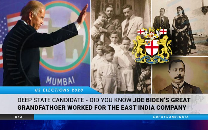 Deep State Candidate Did You Know Joe Biden's Great Grandfather Worked For The East India Company