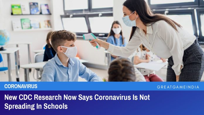 New CDC Research Now Says Coronavirus Is Not Spreading In Schools
