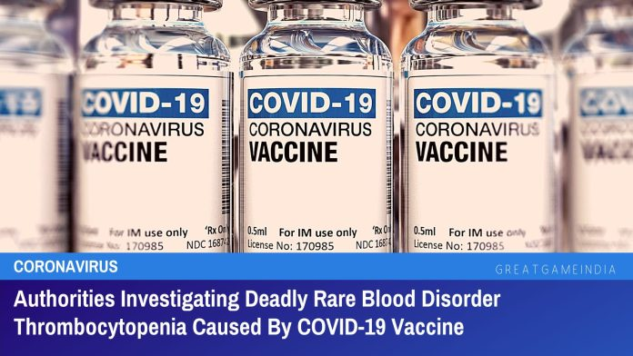 COVID-19 Vaccine Causing Deadly Rare Blood Disorder Thrombocytopenia