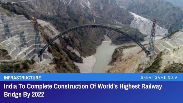India To Complete Construction Of World's Highest Railway Bridge By 2022