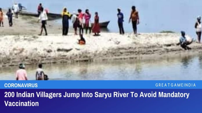 200 Indian Villagers Jump Into Saryu River To Avoid Mandatory COVID-19 Vaccination