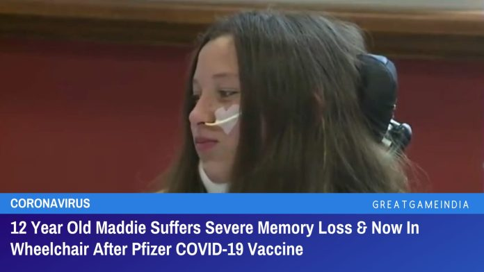 12 Year Old Maddie Suffers Severe Memory Loss & Now In Wheelchair After Pfizer COVID-19 Vaccine