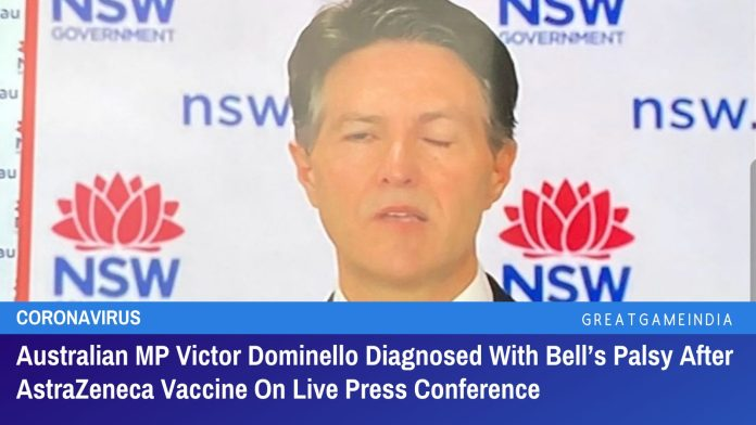 Australian MP Victor Dominello Diagnosed With Bell's Palsy After AstraZeneca Vaccine On Live Press Conference