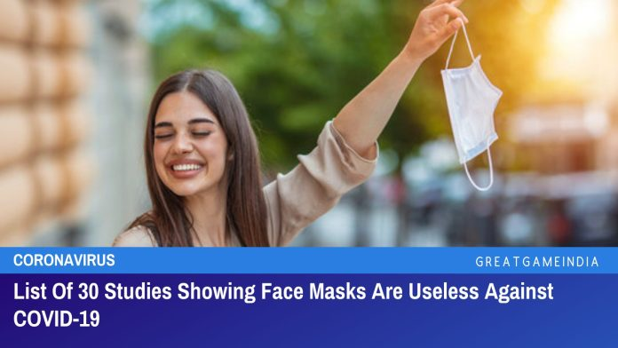 List Of 30 Studies Showing Face Masks Are Useless Against COVID-19