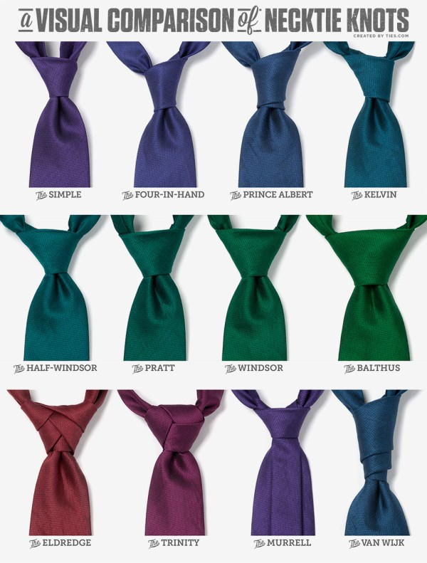 12 Necktie Knots and How to Tie Them! Gifts for a Cause