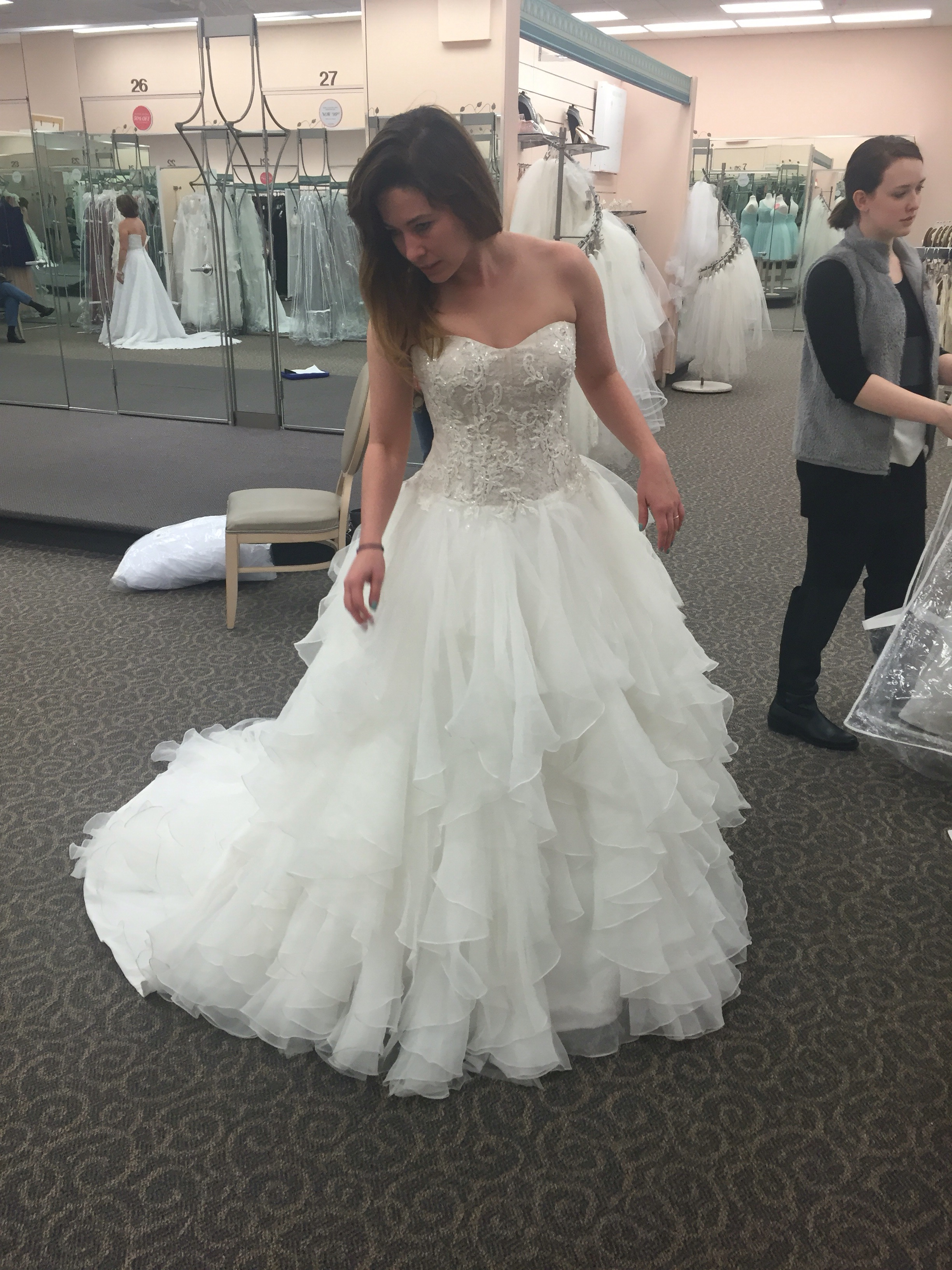 Try on Wedding Dresses  The Great Goal Rush