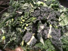 Kale hits the pan