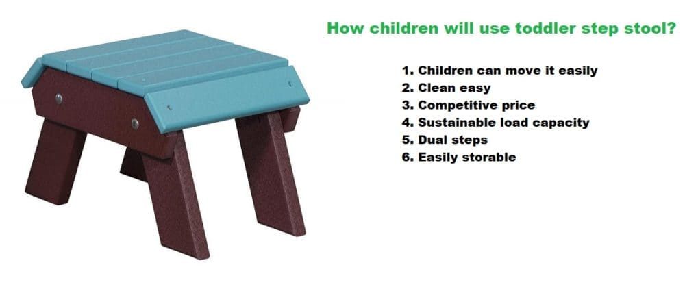 How children will use toddler step stool