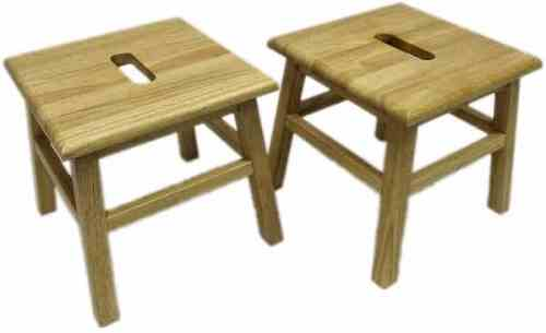 eHemco Set of 2 Hardwood Footstools