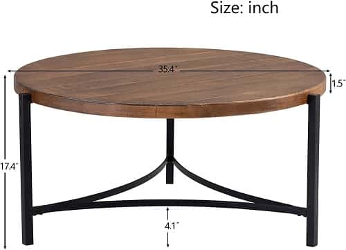 P PURLOVE Round Coffee Table