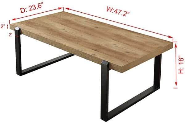 FOLUBAN Rustic Coffee Table