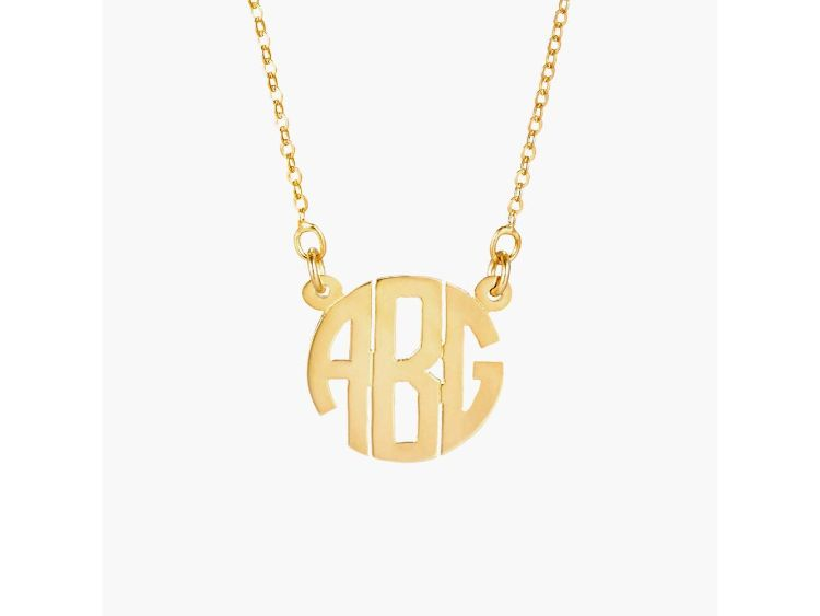 monogram neckless gift ideas for teenagers