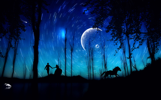 Fall In Love Couples Wallpapers Beautiful Romantic Moonlight Hd Wallpapers Great Inspire