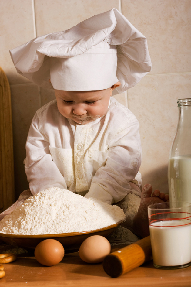 A Happy Girl Wallpaper Cute Little Baby Chef Photography Great Inspire
