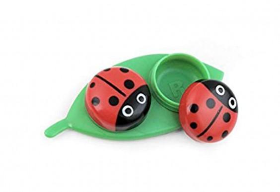 Kikkerland Contact Lens Case, Ladybug