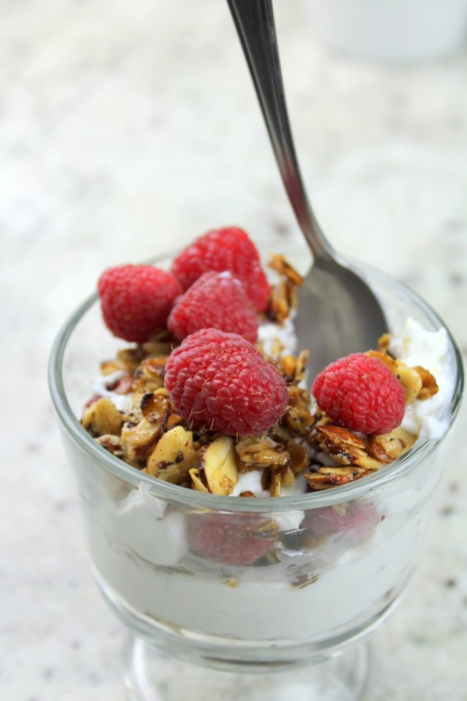 full fat yogurt parfait