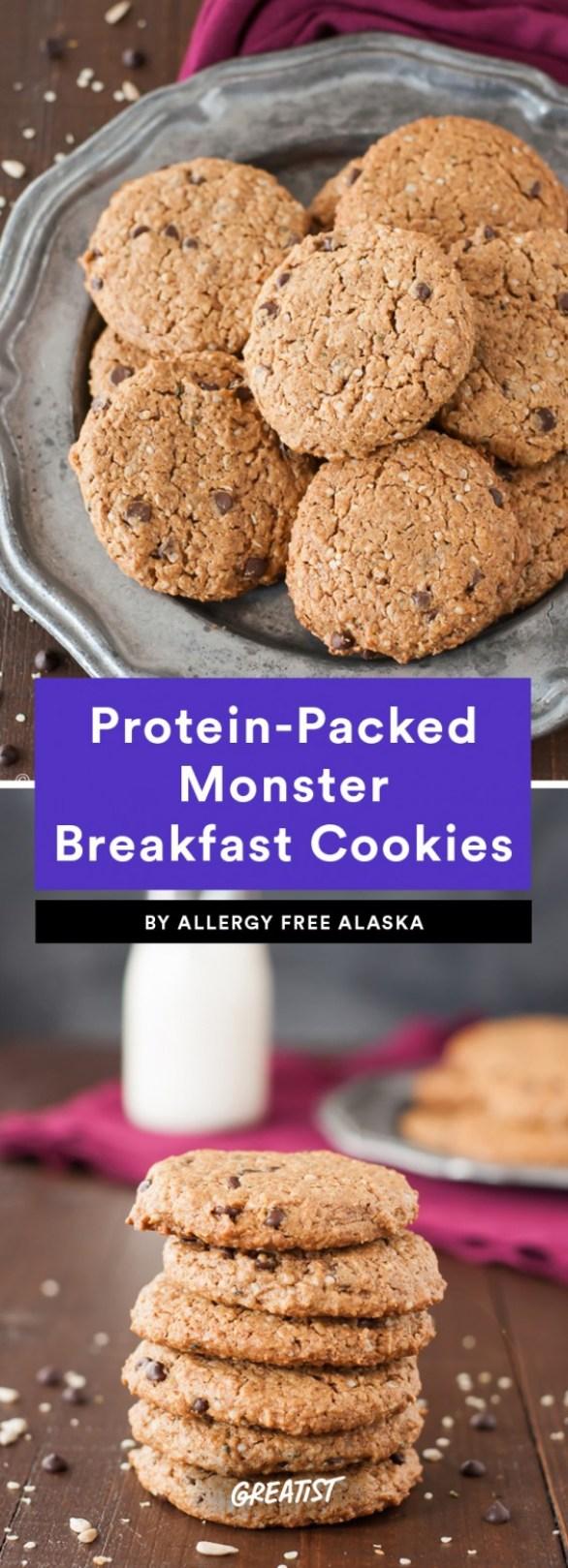 Protein-Packed Monster Breakfast Cookies