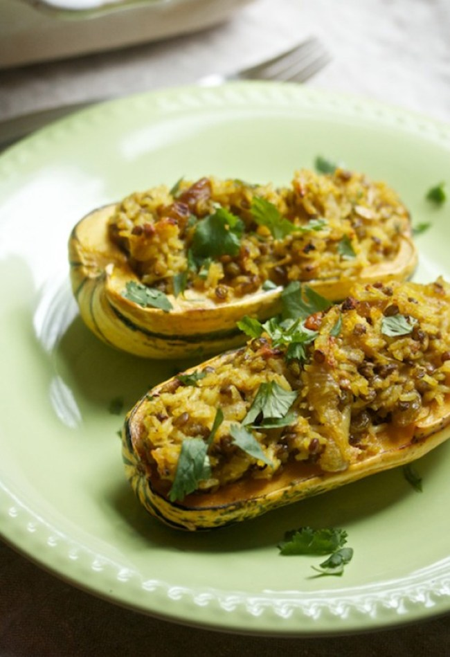 curry-stuffed squash
