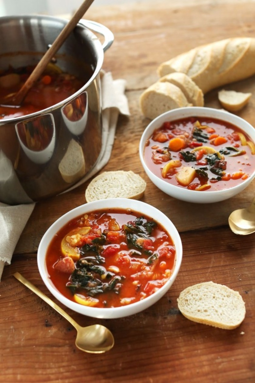 white bean tomato soup