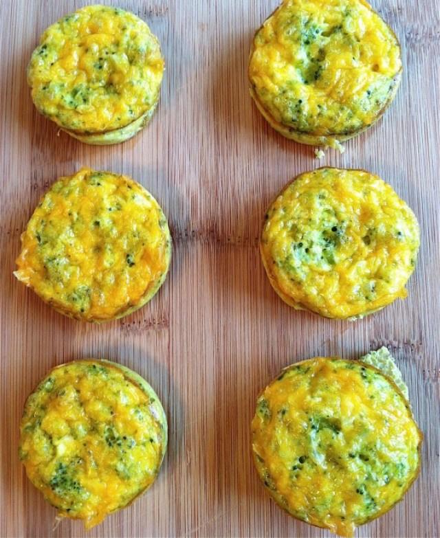Cheddar Broccoli Egg Muffin