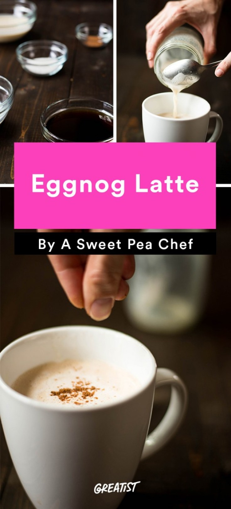 At Home Starbucks Recipes: Eggnog Latte