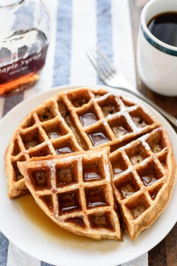 Apple Cinnamon Whole-Wheat Waffles