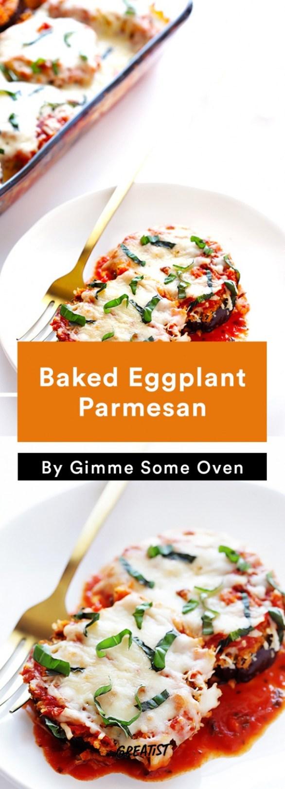 one tray veg din: eggplant parm
