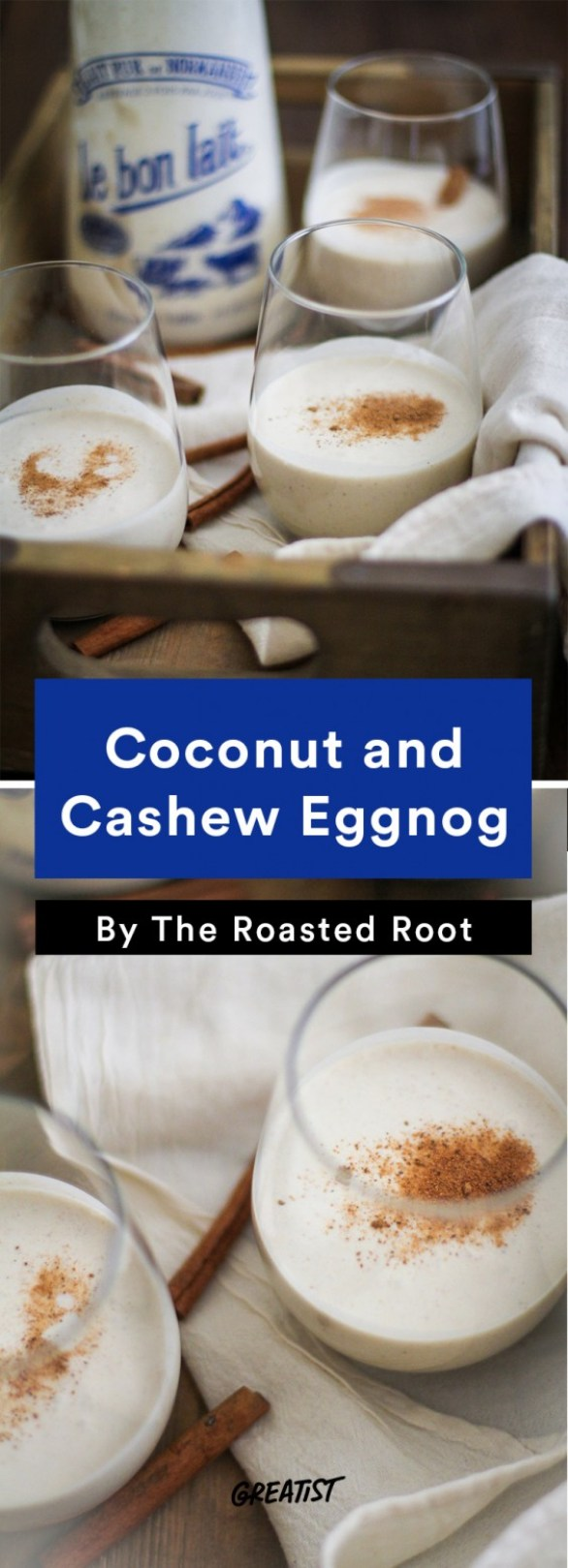 dairy free eggnog: Coconut and Cashew