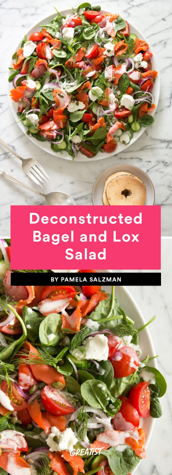 Deconstructed Bagel and Lox Salad Recipe
