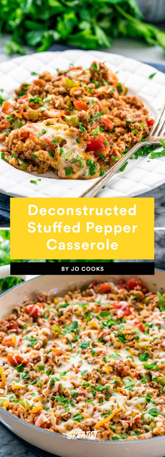 Deconstructed Stuffed Pepper Casserole Recipe