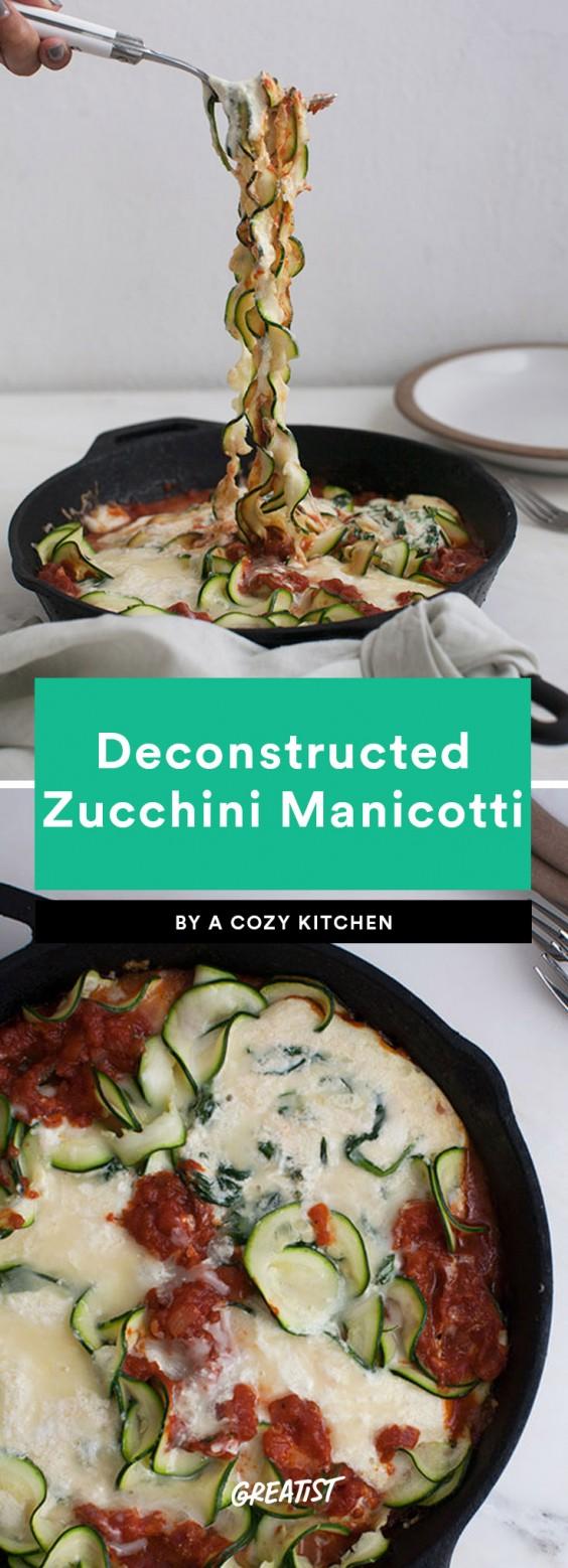 Deconstructed Zucchini Manicotti Recipe